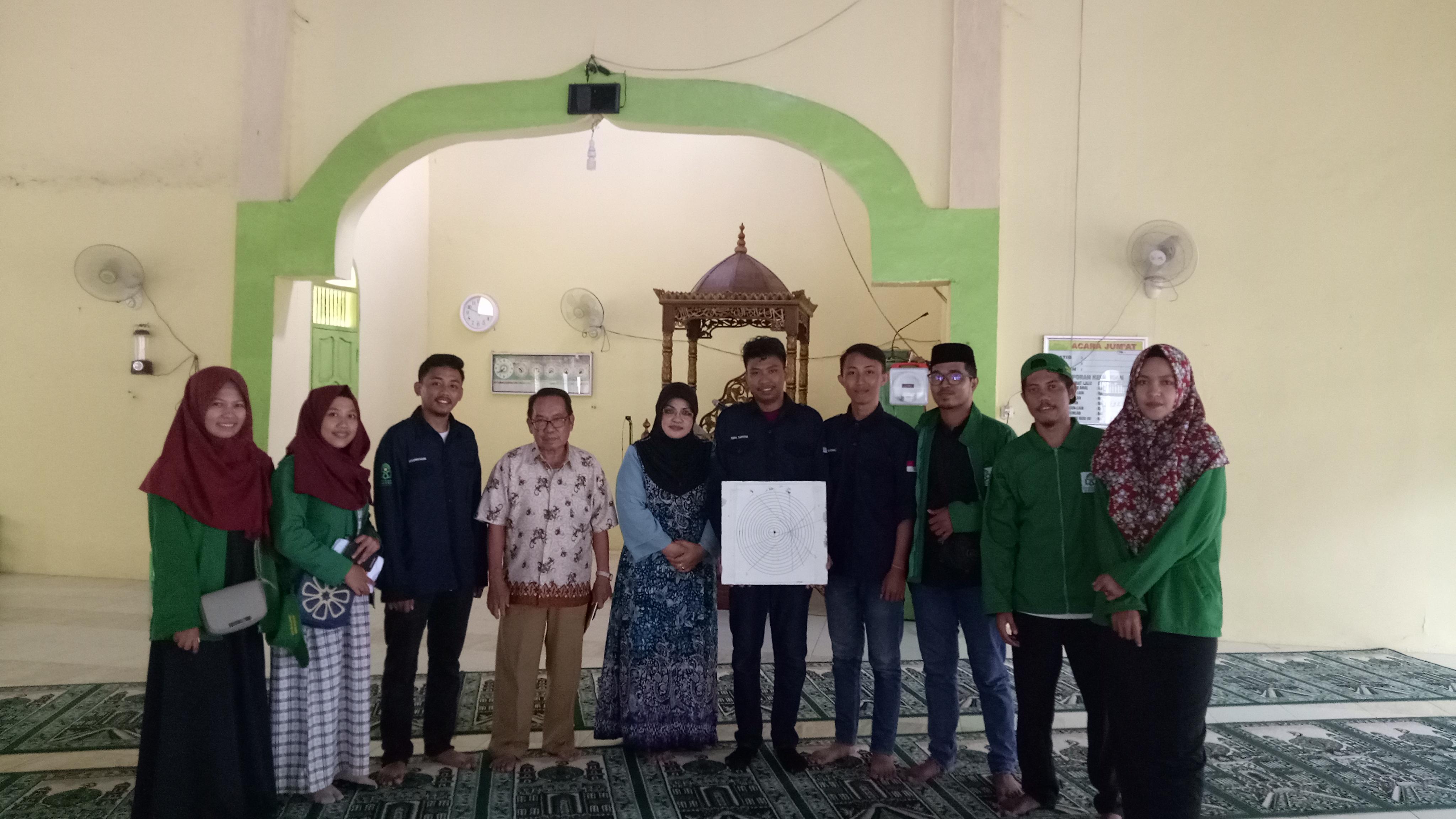 Jurusan Ilmu Falak Fakultas Syariah dan Hukum UIN Alauddin Makassar melaksanakan Pengukuran Arah Kib